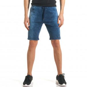 Pantaloni scurți bărbați Flex Style albaștri