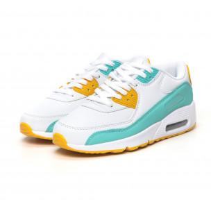 Pantofi sport de dama cu pernă de aer în alb cu accente 2