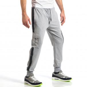 Pantaloni sport bărbați X-Feel gri