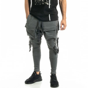 Pantaloni bărbați Black Island gri 2