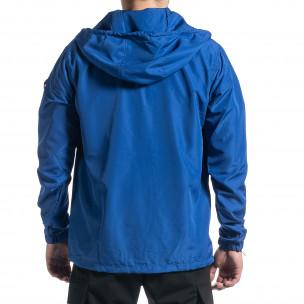 Geacă bărbați Windbreaker albastră 2