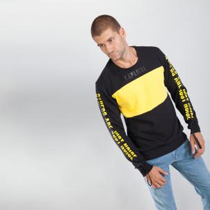 Bluză neagră din bumbac EXPLICIT pentru bărbați