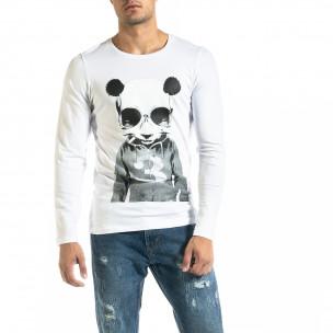 Bluză bărbați Panda albă