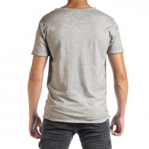 Tricou bărbați Duca Homme gri  2