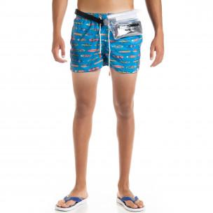 Costume de baie bărbați Surfboard albastru