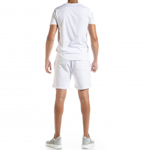Set sportiv alb pentru bărbați Moon  2
