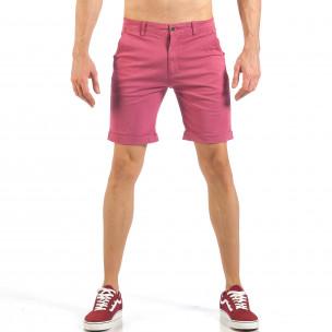 Pantaloni scurți de bărbați în roz-roșu