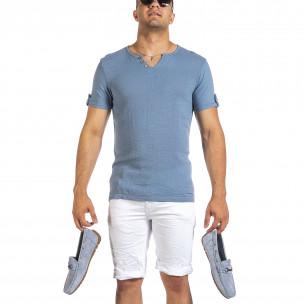 Tricou bărbați Made in Italy albastru