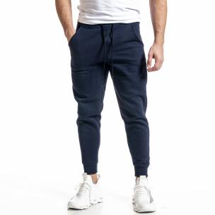 Pantaloni sport bărbați Alkimia albastru
