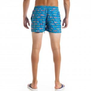 Costume de baie bărbați Surfboard albastru  2