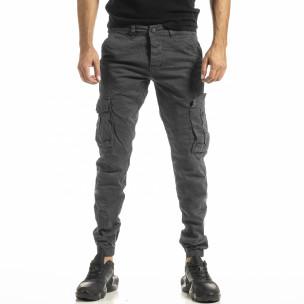 Pantaloni cargo bărbați Blackzi gri