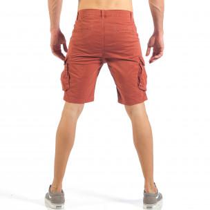 Pantaloni cargo scurți de bărbați în roșu 2