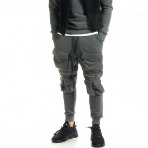 Pantaloni bărbați Black Island gri