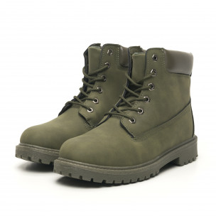 Ghete de bărbați verde militar model clasic 2