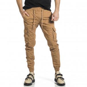 Pantaloni cargo bărbați Blackzi camel Blackzi