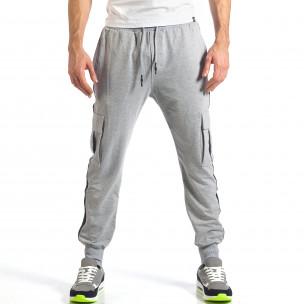 Pantaloni sport bărbați X-Feel gri  2