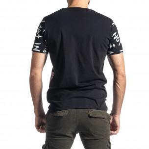 Tricou bărbați Lagos negru  2