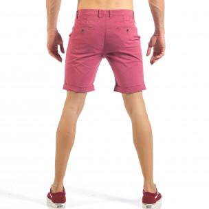 Pantaloni scurți de bărbați în roz-roșu 2