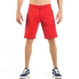 Pantaloni scurți de bărbați roșii cu buzunare italiene
