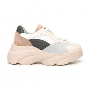 Pantofi sport voluminoși de dama în culori pastelate Seastar