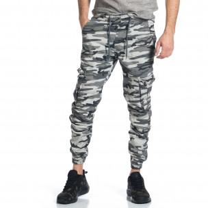 Pantaloni cargo bărbați Blackzi camuflaj
