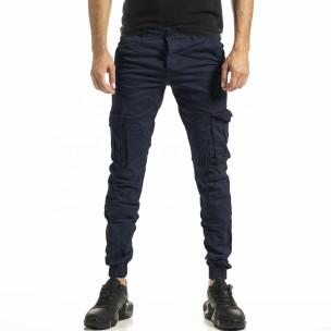 Pantaloni cargo bărbați Blackzi albaștri Blackzi