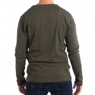 Bluză pentru bărbați RESERVED verde cu buzunar 2