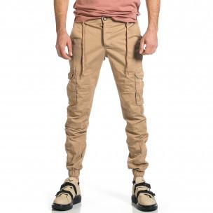 Pantaloni cargo bărbați Blackzi bej Blackzi