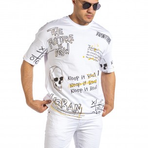 Tricou bărbați Maksim  alb