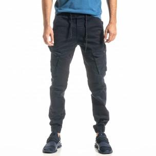 Pantaloni cargo bărbați Blackzi albaștri