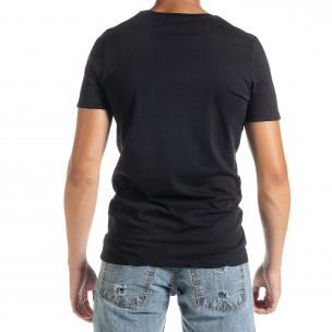 Tricou bărbați Panda negru 2