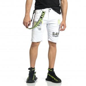 Pantaloni scurți bărbați Yes Design albi