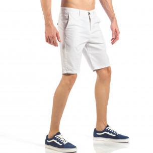Pantaloni scurți basic de bărbați albi 2