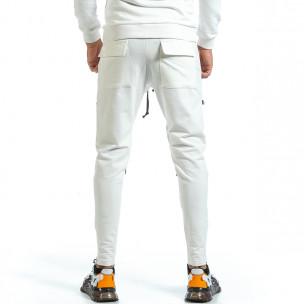 Pantaloni sport bărbați 2Y Premium alb  2