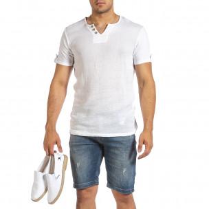 Tricou bărbați Made in Italy alb