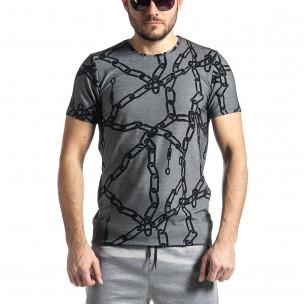 Tricou bărbați Lagos gri