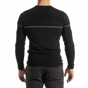Pulover bărbați Lagos negru 2