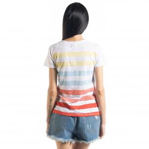 Tricou de dama cu dungi  2