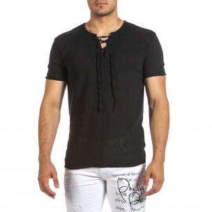 Tricou bărbați Made in Italy negru