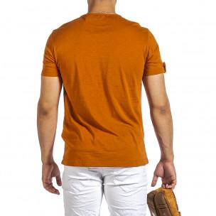 Tricou bărbați Made in Italy camel 2