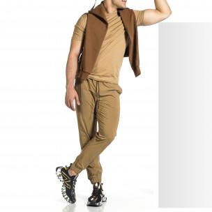 Pantaloni sport bărbați Breezy kaki