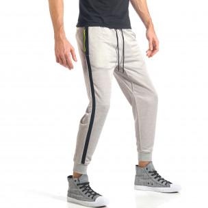 Pantaloni sport bărbați Bread & Buttons gri