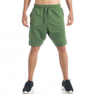 Pantaloni scurți bărbați Black Number verzi