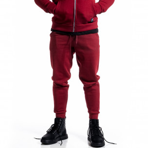 Pantaloni sport bărbați Alkimia roșu