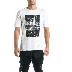 Tricou bărbați Black Island alb