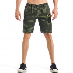 Pantaloni scurți de bărbați camuflaj cu embleme