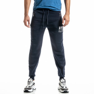 Pantaloni sport bărbați Nice albastru