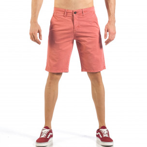 Pantaloni scurți de bărbați roz cu buzunare italiene