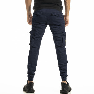 Pantaloni cargo bărbați Blackzi albaștri 2