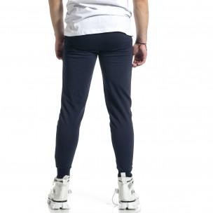 Pantaloni sport bărbați Soni Fashion albastru  2